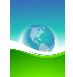 Abstract background and pixel globe vector