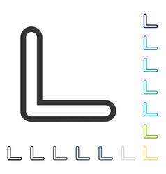 Arrowhead left down icon vector
