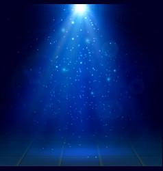Azure spotlights fog smoke scene disco light vector