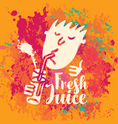 banner for fresh juice on abstract background vector image