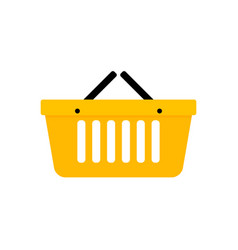 basket shopping icon vector image