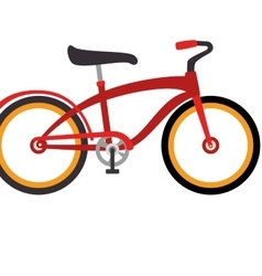 Bicycle retro vintage isolated vector