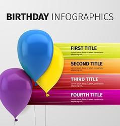 birthday infographics vector image