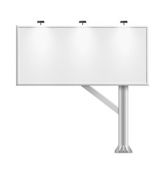 blank whiteboard with empty copy space stand on vector image