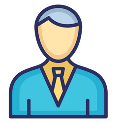 Boss icon which can easily modify or edit vector