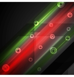 Bright tech comminication background vector image