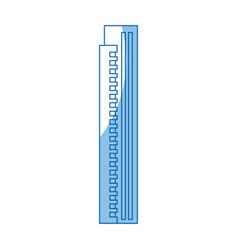 Building skyscraper tower windows exterior vector