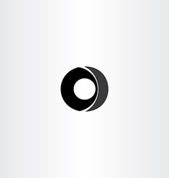 car wheel black letter o icon vector image