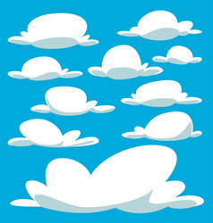 cartoon bulky cloud template collection set vector image