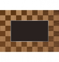 Checkered picture frame vector