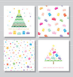 christmas and new year creative card templates and vector image