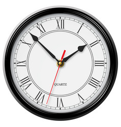 classic noble wall clock with roman numerals vector image