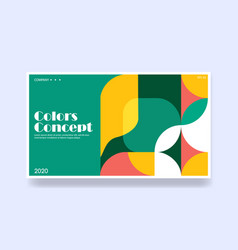 Colorful background in geometric style creative vector