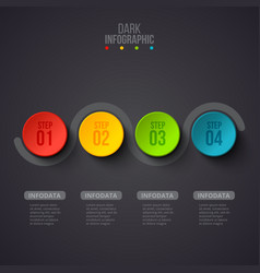 creative concept for dark infographic business vector image