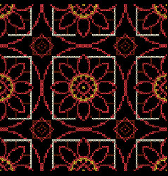 Dark background for cross stitch upholstery fabric vector