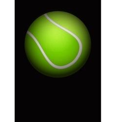 Dark Background of tennis ball vector