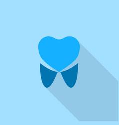 dental care logo icon flat style vector image
