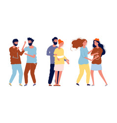 different couples lgbt lesbian and gays vector image