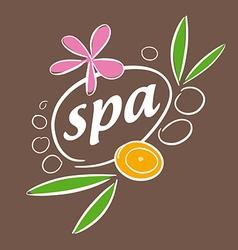 Drawn logo accessories for spa salon vector