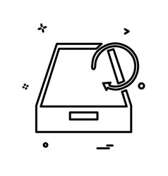 drop box icon design vector image