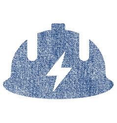 Electrician helmet fabric textured icon vector