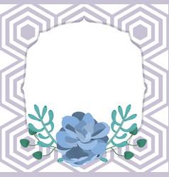 Emblem frame with desert plants vector