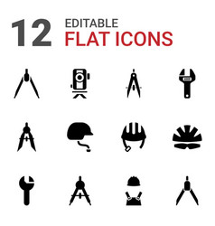 Engineer icons vector