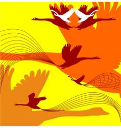fall birds vector image vector image