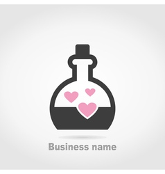 Flask love vector image