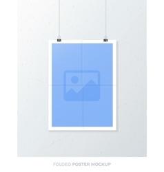 Folded Poster Mockup vector image