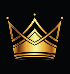 golden crown logo vector image