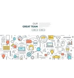 Great team horizontal linear concept vector