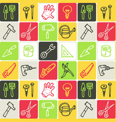 hand drawn icons set - tools vector image