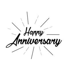 Happy anniversary template design vector