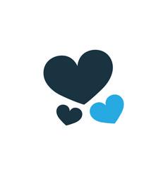 heart colorful icon symbol premium quality vector image