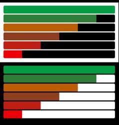 Horizontal bars loading bars progress indicators vector