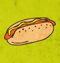Hotdog Cartoon vector image