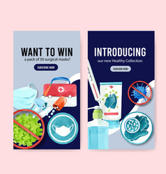 ig stories ad design with medical concept vector image