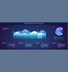 infographic dashboard ui interface information vector image