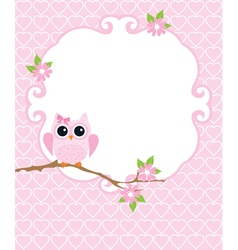 Invitation card owl vector