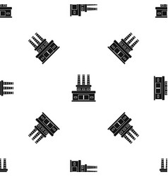 large oil refinery pattern seamless black vector image