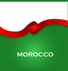Marocco sport style flag ribbon classic style vector