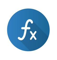 Math function flat design long shadow glyph icon vector