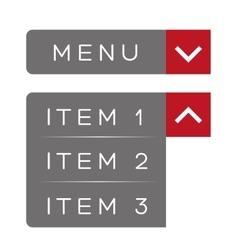 menu item ux vector image