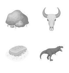 Mine cleaning and other monochrome icon in vector