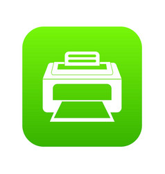 Modern laser printer icon digital green vector