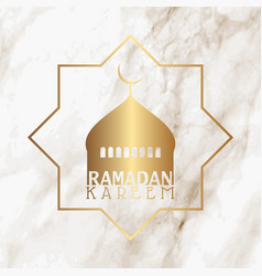 Mosque silhouette on a marble texture for ramadan vector