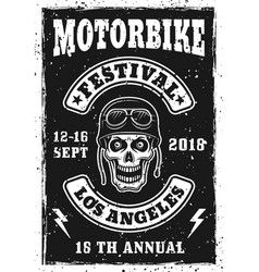 motorbike festival vintage invitation poster vector image