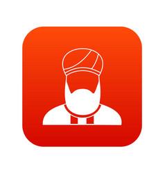 Muslim preacher icon digital red vector