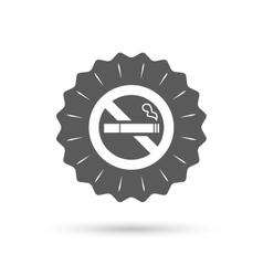 No Smoking sign icon Cigarette symbol vector image